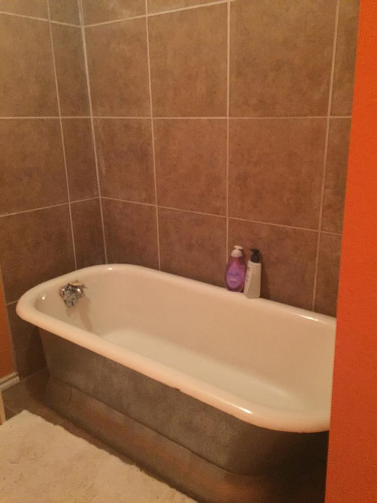 Bathroom #2 Clawfoot Bathtub Was Original to Home